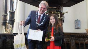 Categorie A 8 t/m 12 jaar winnaar van de 2e prijs: Adinda van Delft
