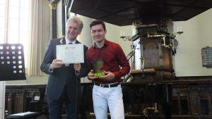 Categorie A 16 t/m 18 jaar winnaar van de 1e prijs: Alexander de Bie