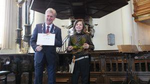 Winnaar van categorie A 8 t/m 12 jaar en winnaar van categorie A, winnaar van de 'Hoofdprijs Jong Talent Concours Maassluis' 2020: Christiaan Blom